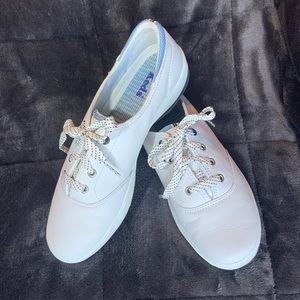 KEDS White Leather Gel-Flex Sneakers